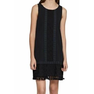 Sanctuary サンクチュアリ ファッション ドレス Sanctuary NEW Black Womens Size XS Floral Embroidered Shift Dress