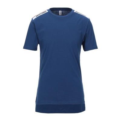 モスキーノ MOSCHINO アンダーTシャツ ブルー XS コットン 100% アンダーTシャツ