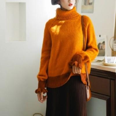自分にご褒美 オルチャン服 オルチャン ファッション 韓国 レディースファッション 冬 トレンド ニット セーター ゆったり タートルネッ