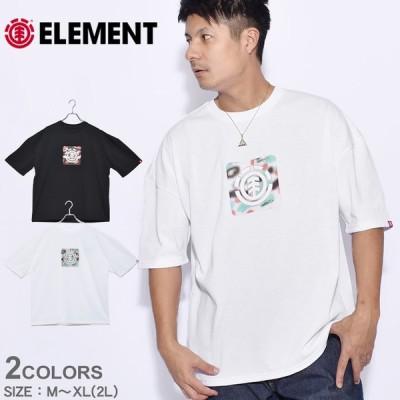 (メール便可) エレメント 半袖Tシャツ メンズ レディース SPRAY BOX SS Tシャツ ELEMENT BB021205 ブラック 黒 ホワイト 白 tシャツ トップス