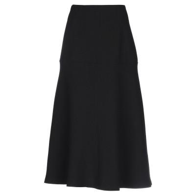 レ コパン LES COPAINS 7分丈スカート ブラック 40 ウール 50% / ポリエステル 50% 7分丈スカート