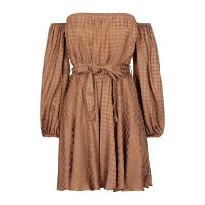 VICOLO ミニワンピース&ドレス キャメル one size レーヨン 100% ミニワンピース&ドレス
