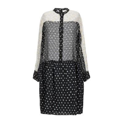 8PM ミニワンピース&ドレス ブラック S レーヨン 50% / ポリエステル 50% ミニワンピース&ドレス