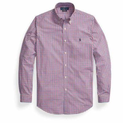 ラルフローレン シャツ トップス メンズ Men's Classic-Fit Plaid Poplin Shirt Red/Blue Multi
