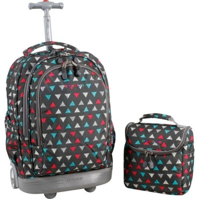 ジャイワールドニューヨーク メンズ バックパック・リュックサック バッグ Setbeamer Rolling Backpack with Lunch Bag