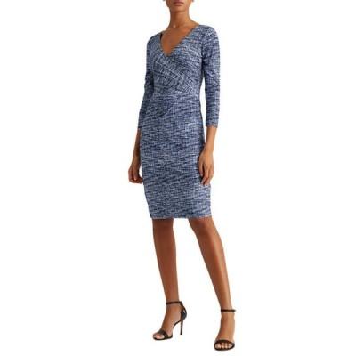 ラルフローレン レディース ワンピース トップス Print Jersey Surplice Dress