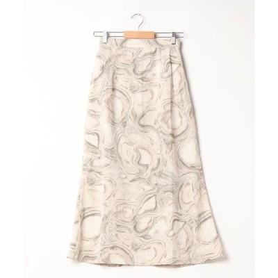 スカート マーブルエアリーマーメイドスカート