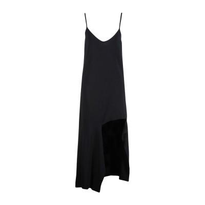 MRZ 7分丈ワンピース・ドレス ブラック M 94% レーヨン 6% ポリエステル 7分丈ワンピース・ドレス
