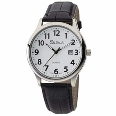 [クレファー] 腕時計 アナログ 防水 日付 革ベルト SD-AM051-WTS メンズ ブ(中古品)