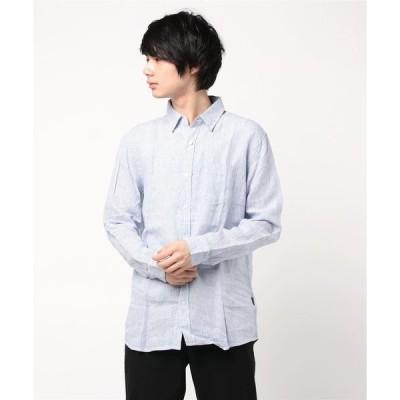 シャツ ブラウス 【BACK NUMBER】リネンストライプシャツ