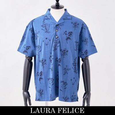 LauraFelice(ラウラ・フェリーチェ) 半袖ポロシャツ ネイビー系 138450126