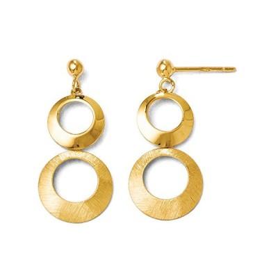 ポリッシュ & ブラッシュ Double サークル Dangle Earrings in 14K イエロー ゴールド(海外取寄せ品)
