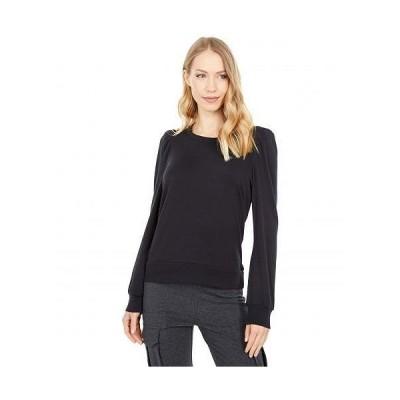 Chaser チェイサー レディース 女性用 ファッション Tシャツ Baby Rib Puff Sleeve Crew Neck Tee - True Black