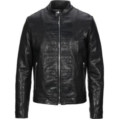 ビッケンバーグ BIKKEMBERGS メンズ レザージャケット アウター Leather Jacket Black