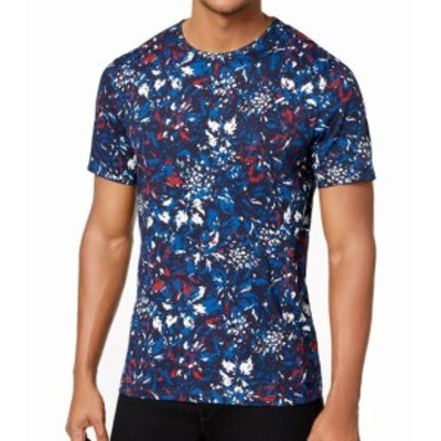 Michael Kors マイケルコルス ファッション トップス Michael Kors NEW Blue Mens Size Small S Floral Graphic Tee T-Shirt