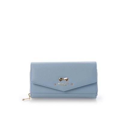 サマンサタバサプチチョイス オリジナルリボンウォレットバッグ ブルー