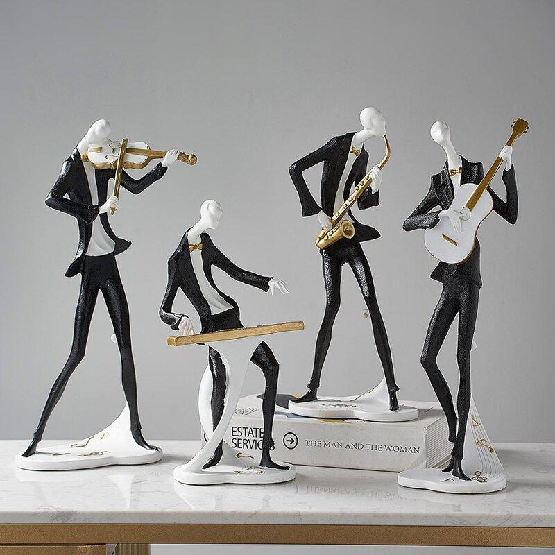北歐輕奢音樂人物擺件創意家居裝飾客廳酒櫃電視櫃辦公室桌面擺設  SHBS3 愛尚優品