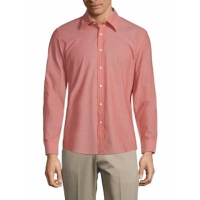 ハイデンヨー メンズ カジュアル ボタンダウンシャツ Classic Slim-Fit Cotton Button-Down Shirt