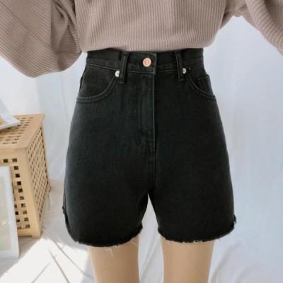 GIRLS RULE レディース ショートパンツ 241A line black blue shorts