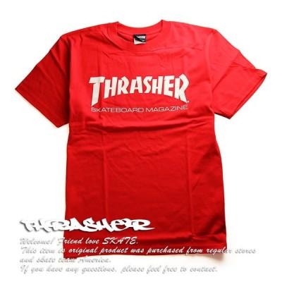 Thrasher Magazine Tシャツ 半袖 スラッシャー Mag Logo T-Shirt Red スケボー SK8 スケートボード HARD CORE PUNK ハードコア パンク HIPHOP ヒップホップ