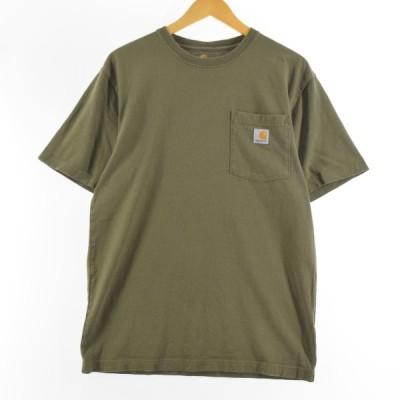 カーハート Carhartt ORIGINAL FIT 半袖 ワンポイントロゴポケットTシャツ メンズS /eaa160450
