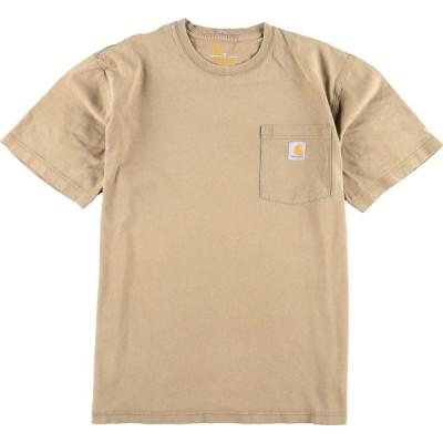 カーハート ワンポイントロゴポケットTシャツ M /eaa012721