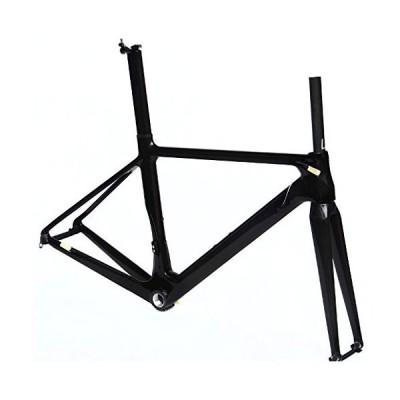 (新品) x-goods Full Carbon Glossy 700c Road Bike Cycling BSA Frame Fork Seatpost Clamp 56cm