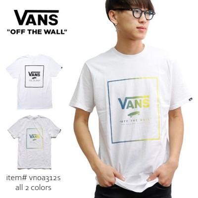 バンズ/VANS Print Box T-Shirt メンズ トップス ボックス ロゴ 半袖 Tシャツ ベーシック VN0A312S WHITE【ネコポス発送のみ送料無料】