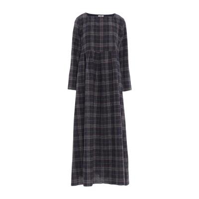 LA SARTORIA ロングワンピース&ドレス ダークブルー 46 アセテート 62% / キュプラ 38% ロングワンピース&ドレス