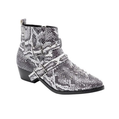 ジェーンアンドザシュー ブーツ&レインブーツ シューズ レディース Women's Cindy Ankle Western Booties Multi Snake