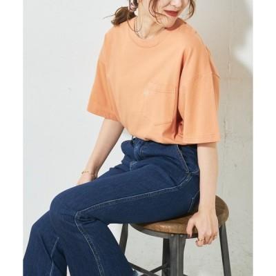 tシャツ Tシャツ 【Lee/リー】コラボポケ付刺繍バックプリントT