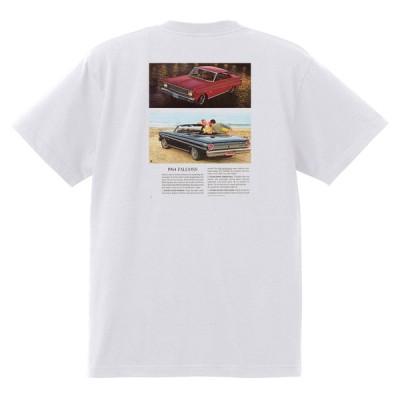 アドバタイジング フォード 783 白 Tシャツ 黒地へ変更可 1964 サンダーバード ギャラクシー ファルコン フェアレーン マスタング ブロンコ f100