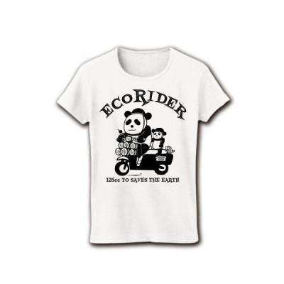エコライダー(スクーター) リブクルーネックTシャツ(ホワイト)