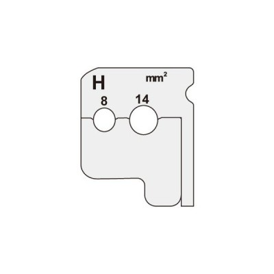 DIV-814KP (DIV814KP) ジェフコム デンサン DENSAN  ワイヤーストリッパー(IV線用替刃)