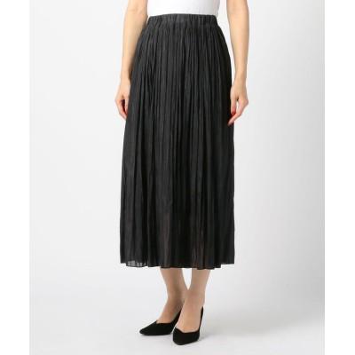 【ミューズ リファインド クローズ】 シャイニープリーツスカート レディース クロ M MEW'S REFINED CLOTHES
