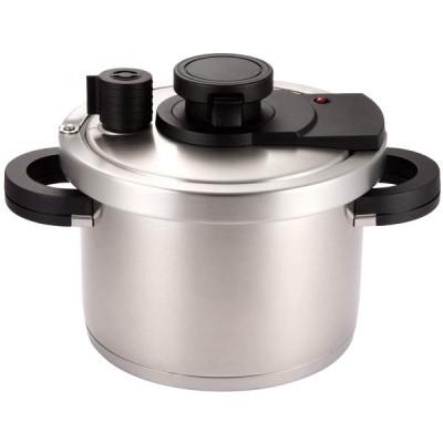 マイヤー 圧力鍋 シルバー 4.0L プレミアムプレッシャークッカー IH・ガス熱源対応 高圧 時短 PRM-PC4.0