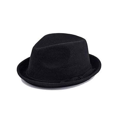 DOSOMI Retro Wool Felt Hat Men Women Fedora Hats Jazz Hat Trilby Casual Chu