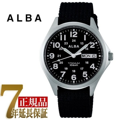 セイコー アルバ SEIKO ALBA クオーツ チタン メンズ 腕時計 AQPJ404