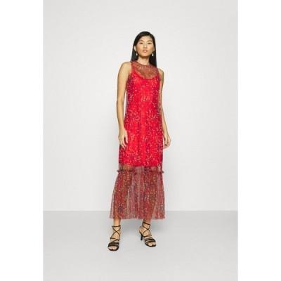 フー ワット ウェア ワンピース レディース トップス THE DRESS - Maxi dress - confetti red