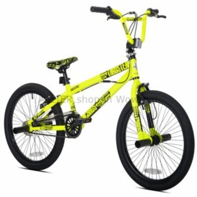 BMX THRUSTER 20カオスボーイズBMXバイク自転車ネオンイエローフレームキッズシングルスピード  THRUSTER 2