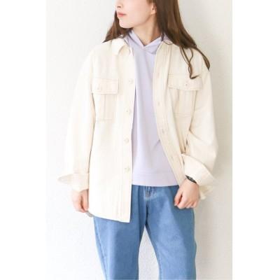 【エルビーシー】 コットンCPOシャツジャケット レディース オフホワイト M(9ゴウ) LBC
