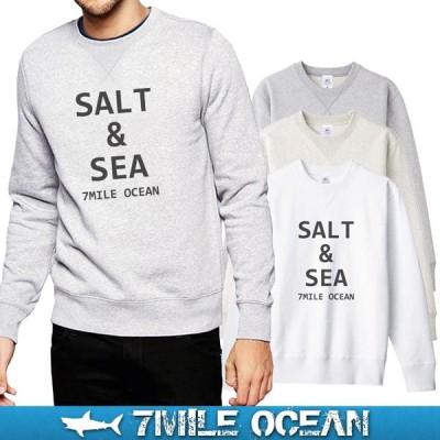 7MILE OCEAN セール価格 メンズ 長袖 トレーナー スウェット プリント 人気ブランド アメカジ アウトドア サーフ系 アパレル 裏起毛 大きいサイズ 秋冬