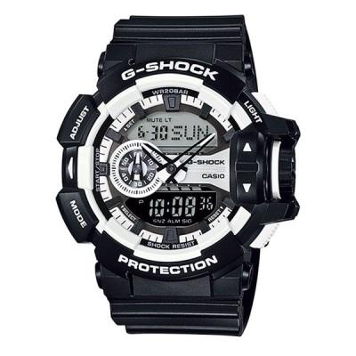 【海外モデル】G-SHOCK Gショック メンズ ハイパーカラーズ ブラック 大きいケース アナログデジタル 多機能 防水 黒 GA-400-1A あすつく 腕時計