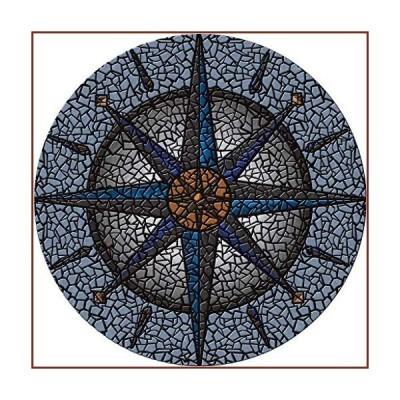 """POOLSAIC Drop-in Compass Vinyl Swimming Pool Mat (59"""" x 59"""")【並行輸入品】"""