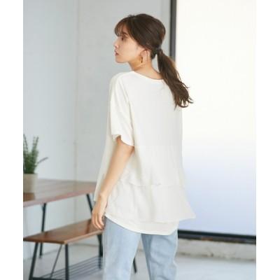 tシャツ Tシャツ バックフリルプルオーバー(1R15-M04185)