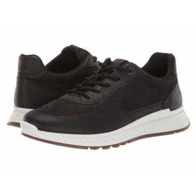 エコー スニーカー シューズ レディース ST.1 Sneaker Black/Black