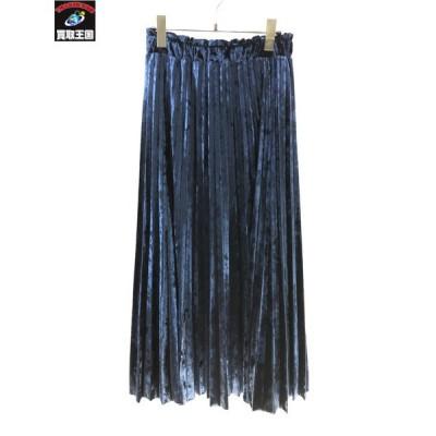 GRACE CONTINENTAL プリーツスカート 36 ブルー グレースコンチネンタル
