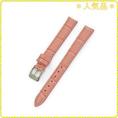 CASSIS[カシス] カーフ クロコダイル型押し 時計ベルト DONNA Croco Calf ドナ 11mm パステルピンク 交換用工具付き D0000