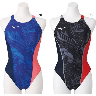 ミズノ レディース 競泳練習用エクサースーツUP ミディアムカット スイムウエア スイミング 水泳 競泳水着 N2MA0761