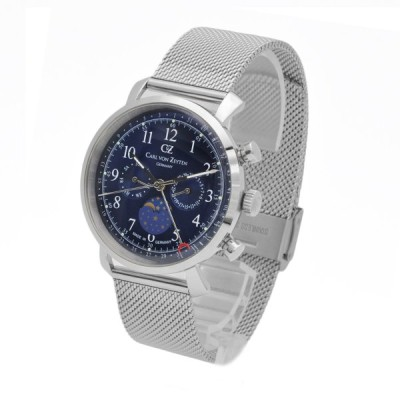 腕時計 メンズ ドイツ時計 ドイツデザイン カレンダー CvZ カール・フォン・ツォイテン CarlvonZeyten CvZ0015BLMB